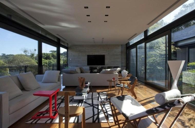 pared hormigon residencia moderna ideas