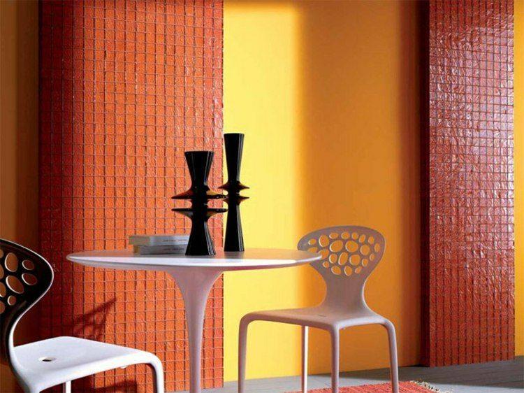 paredes deco mosaico naranja