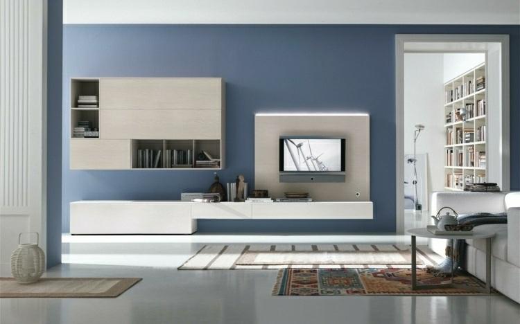 Color azul en las paredes de interior cincuenta dise os for Paredes turquesa y gris