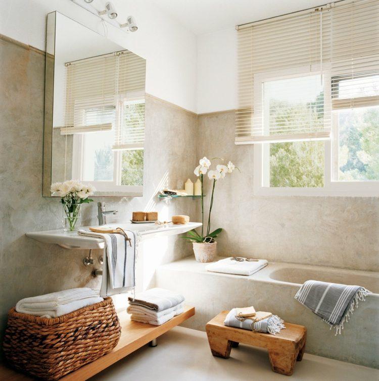 paredes baño acabado microcemento