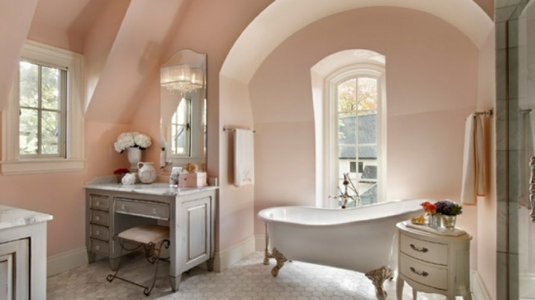paredes baño color salmón