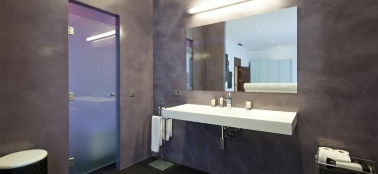 Ba os microcemento los cincuenta dise os m s interesantes - Aplicacion de microcemento en paredes ...