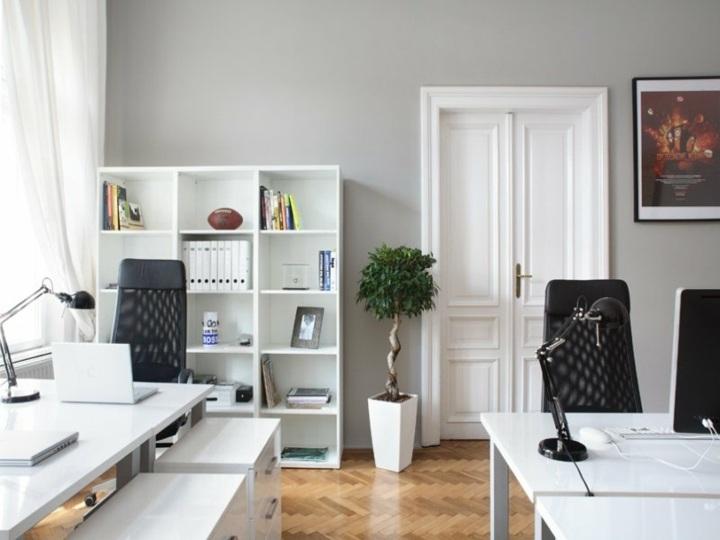 Blanco y negro colores para hacer una oficina nica - Despachos en casa decoracion ...