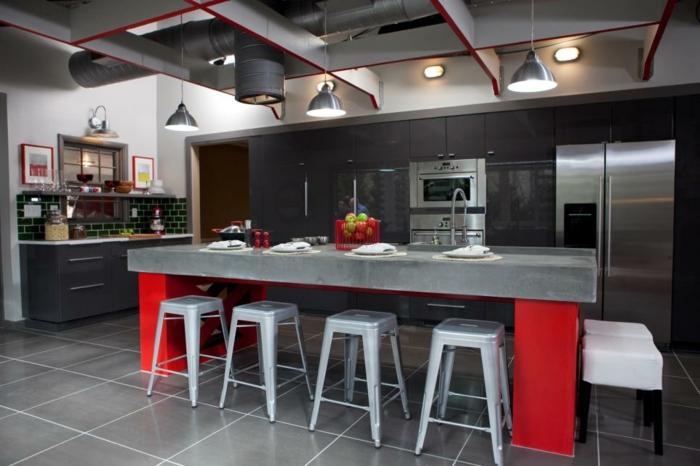 paredes detalles rojos salones inicios verdes