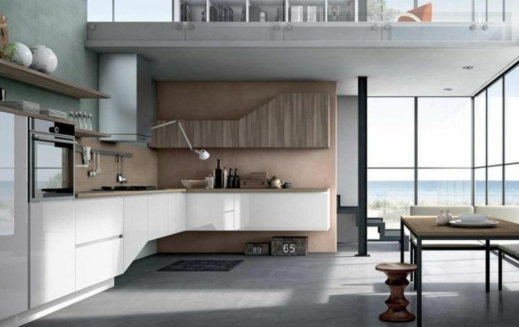 paredes estantes salas maderas modernas