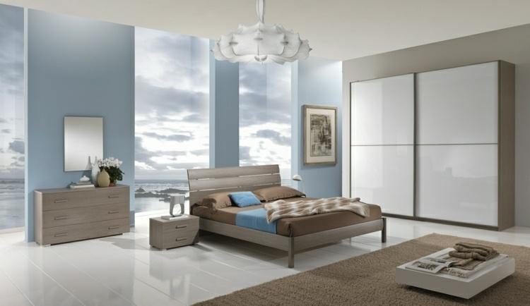 paredes habitación color celeste