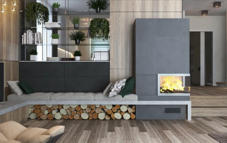 paredes suelo madera isnpiracion salon ideas