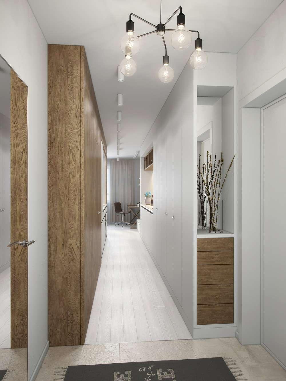 pasillo recibidor diseño madera