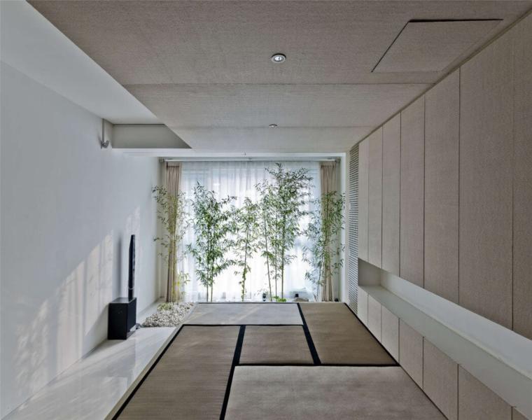 pasillo desván estilo jardin zen