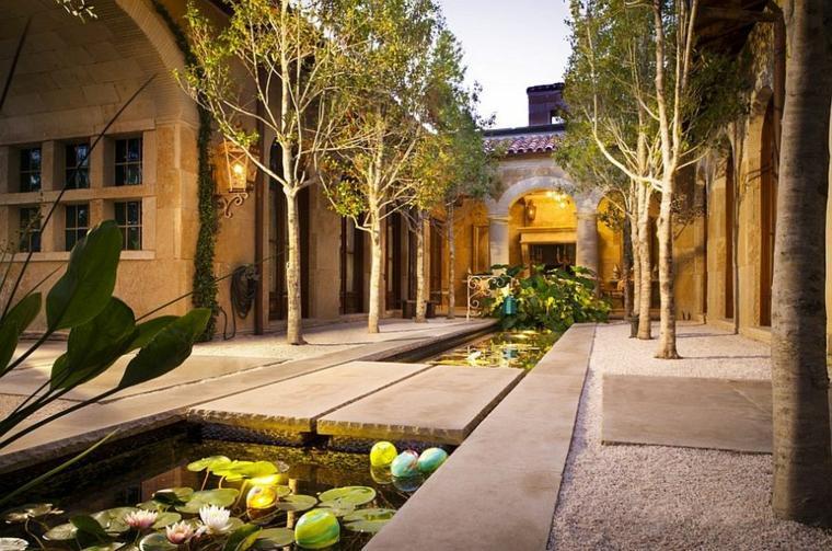 patio estilo clásico moderno diseño
