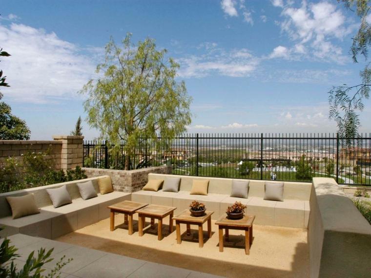 patio terraza deco muebles modernos