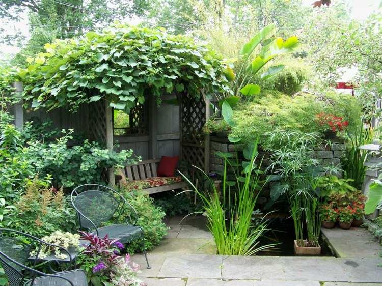 patio terraza decoración rústica