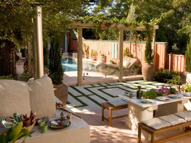 patio terraza estilo lujoso