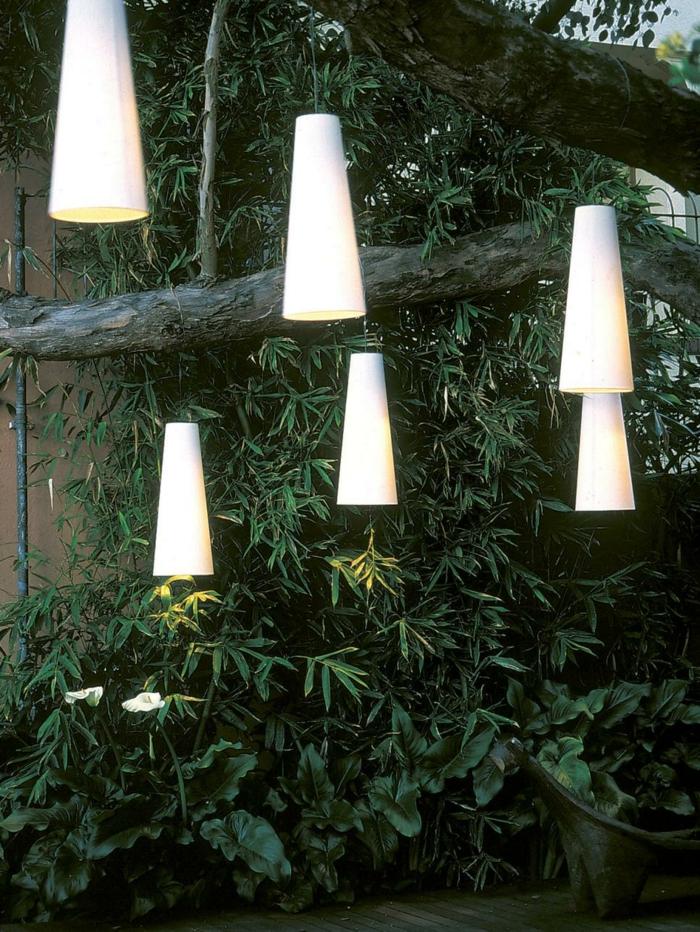 pendientes lamparas colores sala arboles