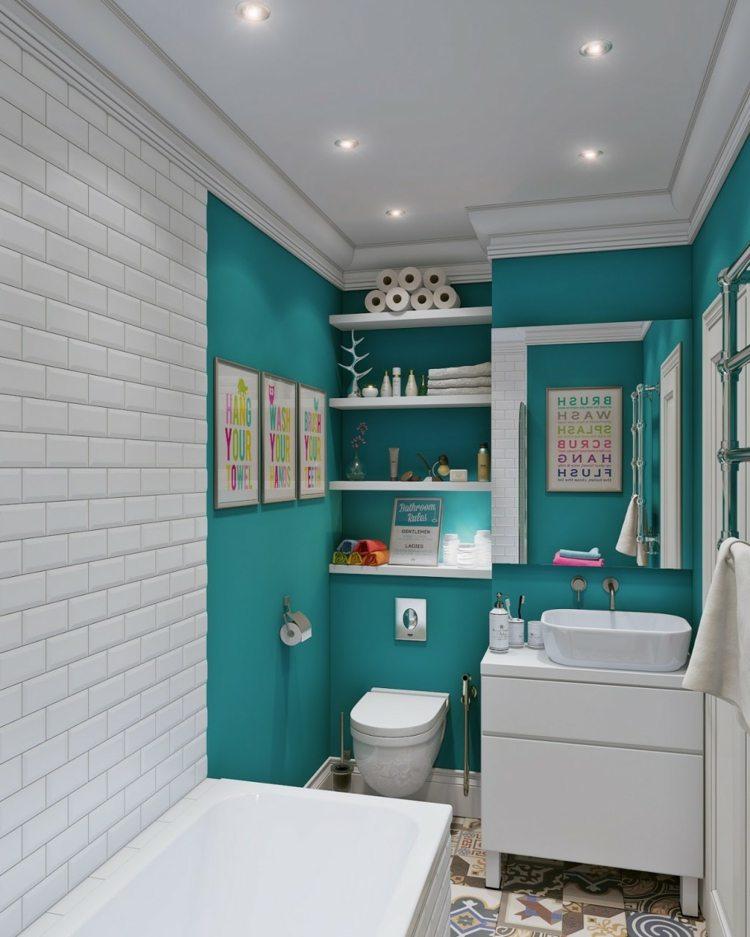 pequeños cuadros coloridos toallas bañera