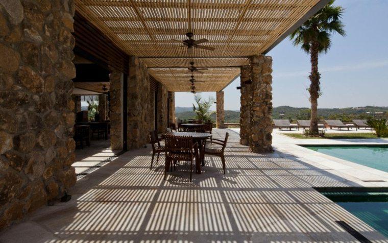 pergola jardin diseno rancho muy original ideas