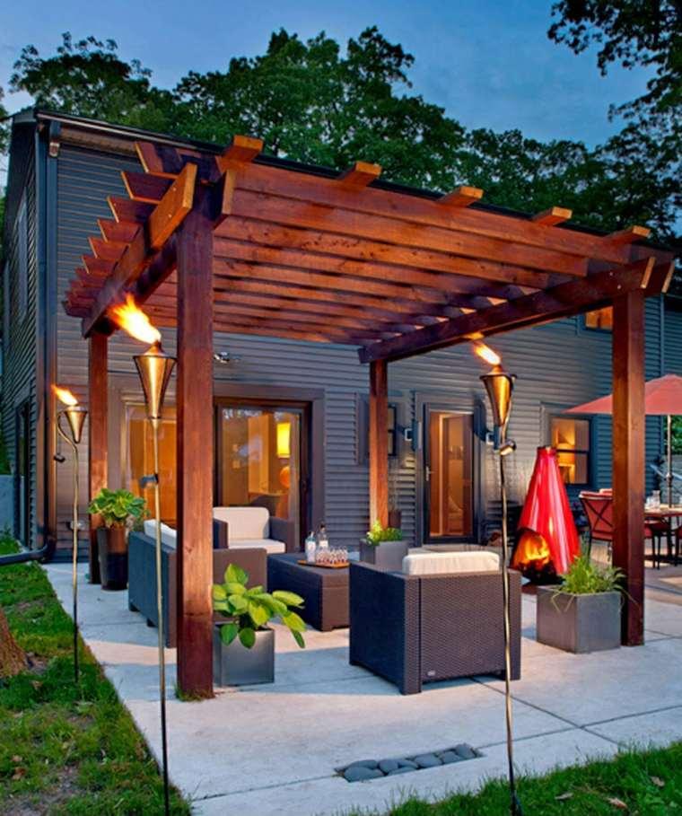 pergola madera terraza opciones diseno ideas