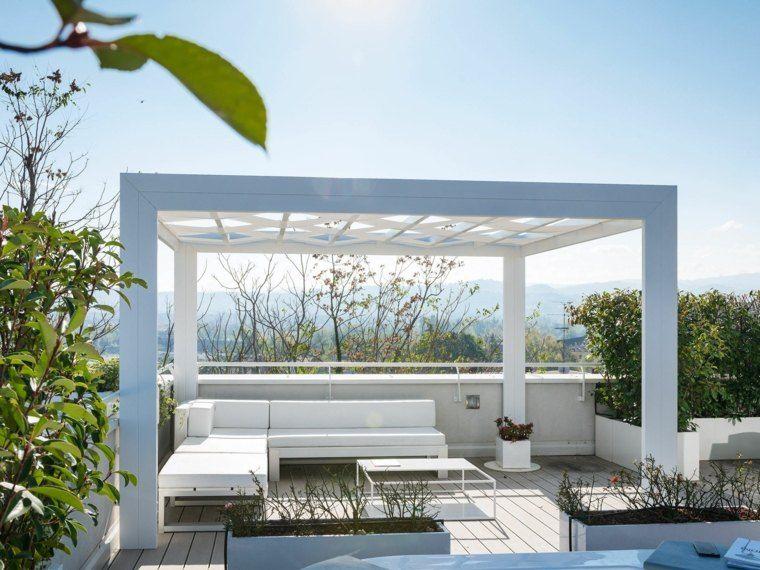 pergolas de aluminio blanco muebles blancos modernos ideas