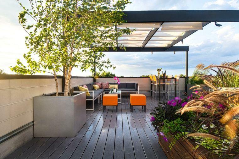 pergolas de aluminio diseno elegante terraza ideas