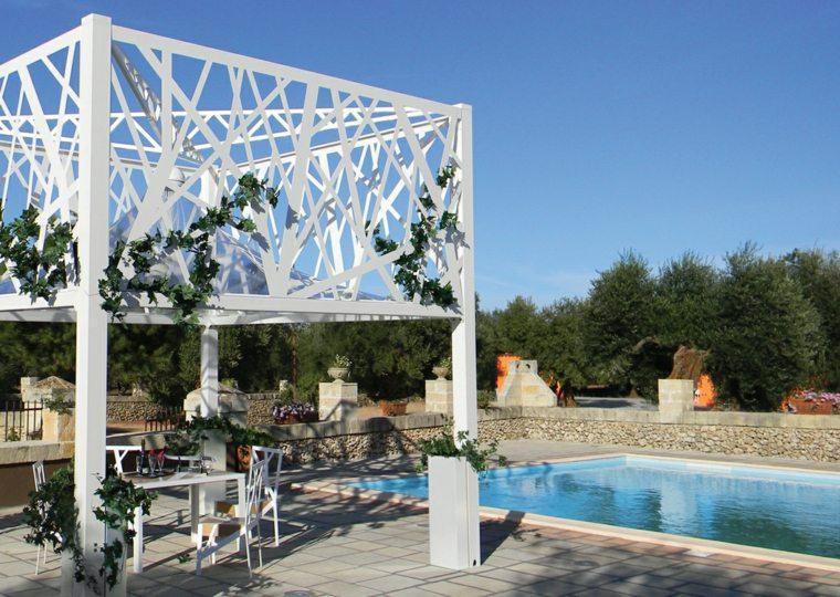 pergolas de aluminio opciones plantas trepadoras decorativas ideas
