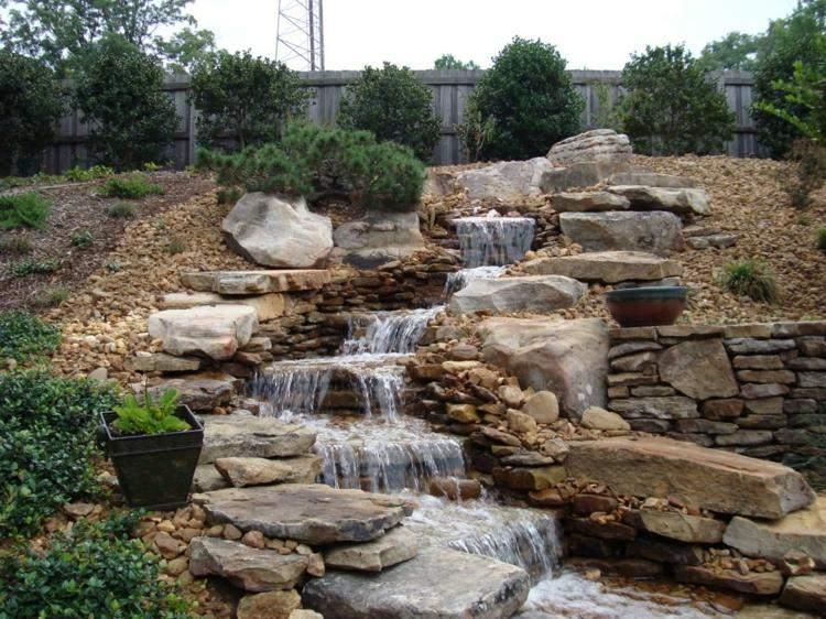 piedras caida agua original opciones jardin seco ideas