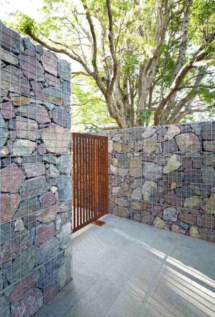 piedras diseño fachadas modernas entrada