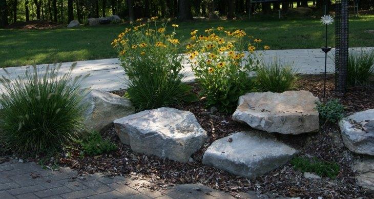 piedras para jardin salas estantes plantas
