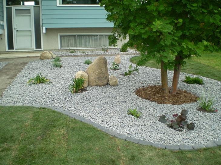 piedras para jardin soluciones creativas arboles