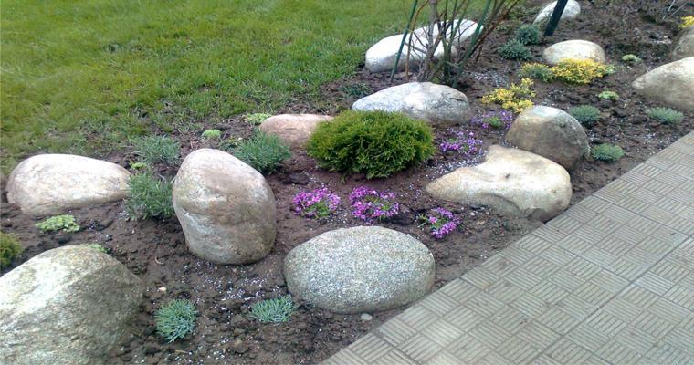 piedras reondas decorativas jardín