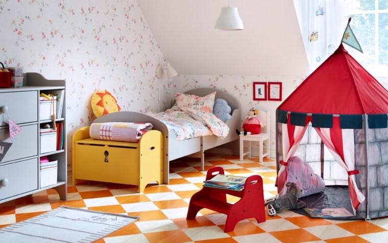 pintar paredes habitacion nino alfombra colorida ideas