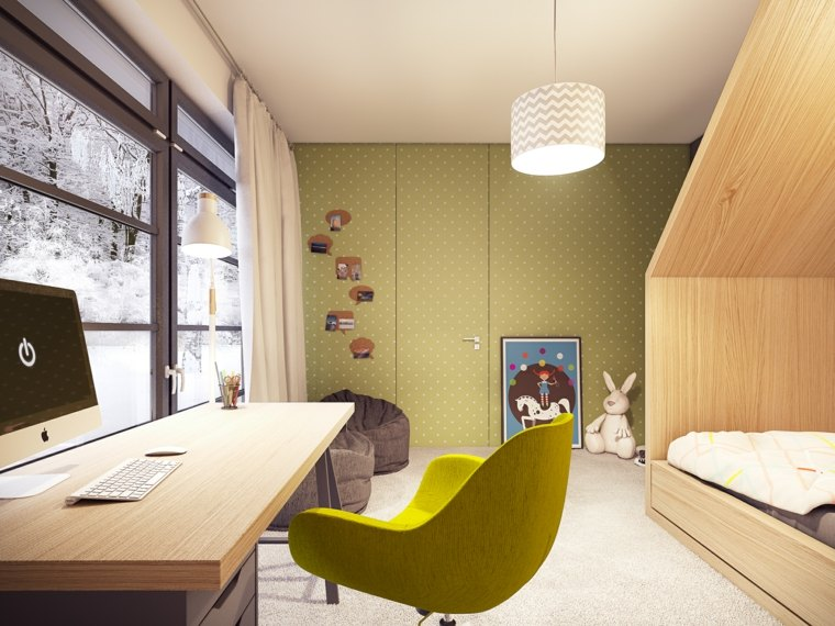 pintar paredes habitacion nino color verde claro ideas