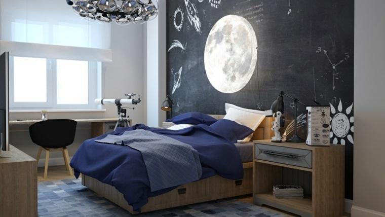 pintar paredes habitacion nino luna pared ideas