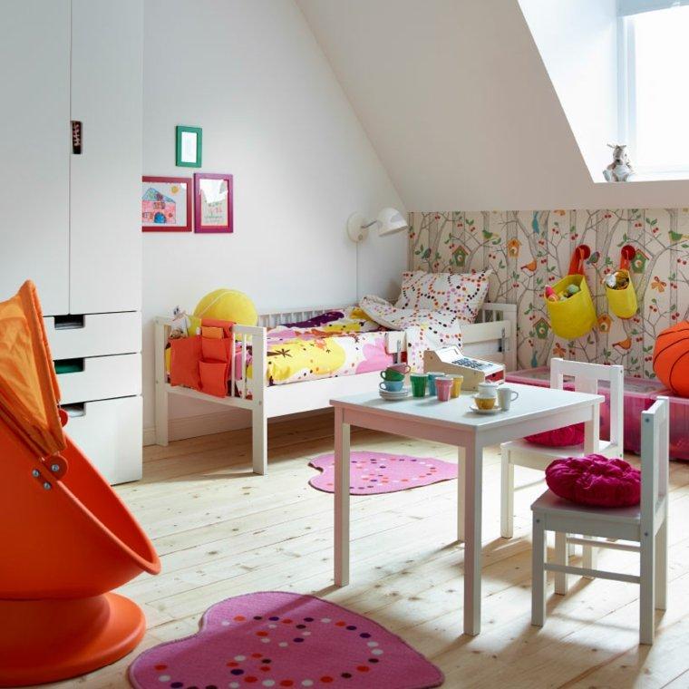 pintar paredes habitacion nino papel pared estampa flores ideas