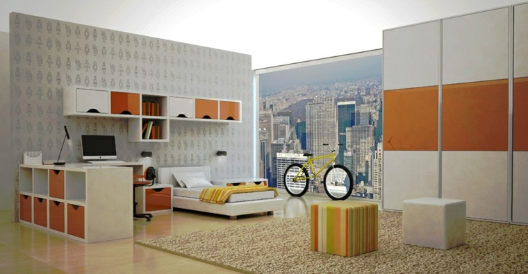 pintar paredes habitacion nino papel pared original ideas