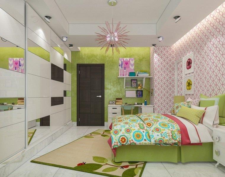 pintar paredes habitacion nino verde papel pared ideas