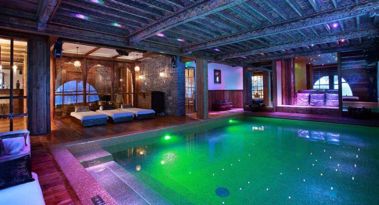 diseño habitación lujosa piscina