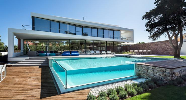diseños piscinas fibra modernas