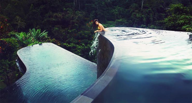 photos of indefinite modern pools