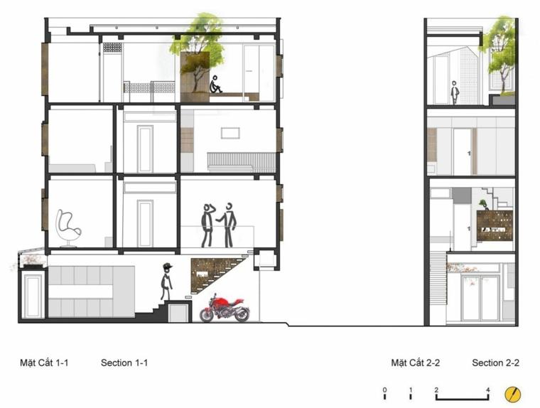 plano edificio apartamentos balcones pequenos ideas