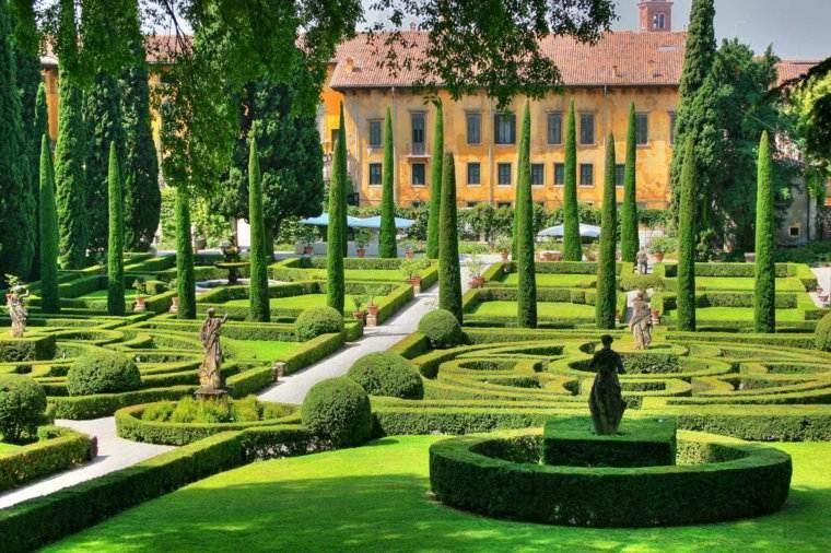 plano jardin clasico diseno mediterraneo ideas