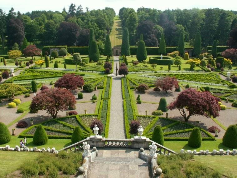 plano jardin clasico espacios amplios ideas