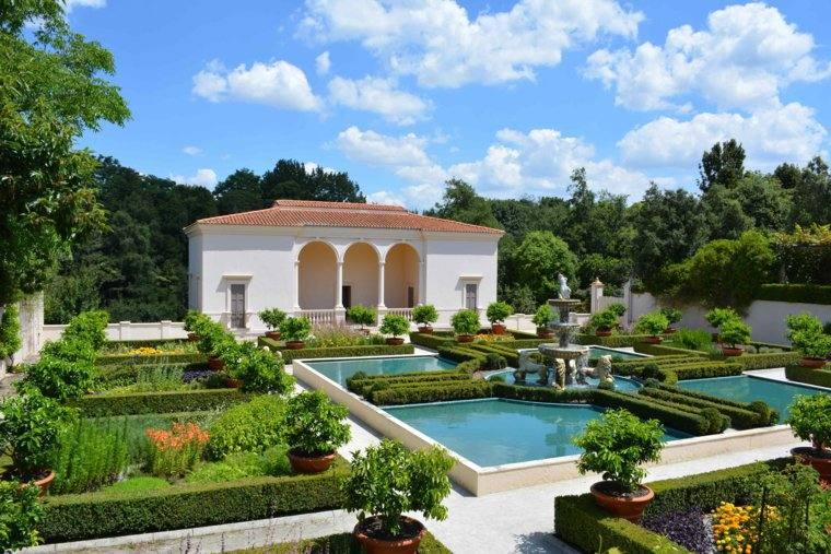 plano jardin clasico estanques grandes ideas