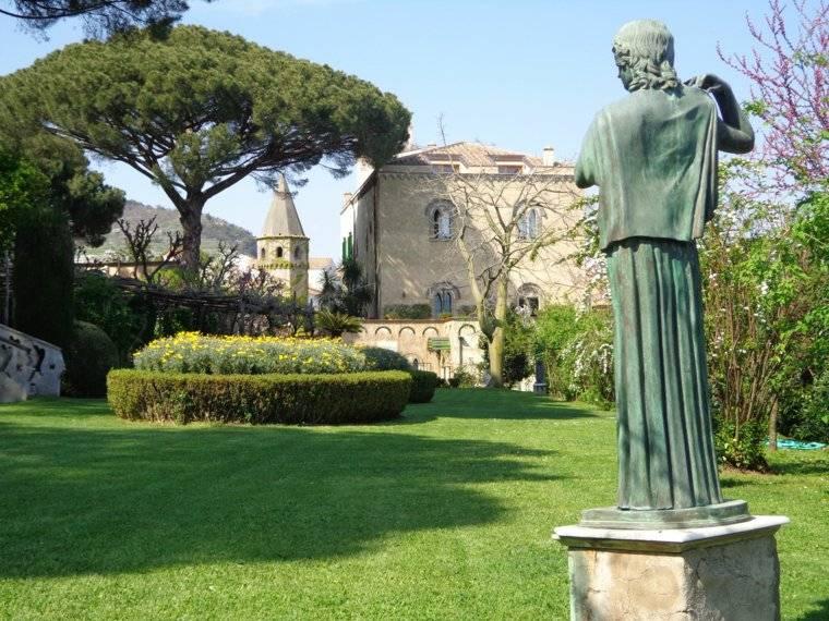 plano jardin clasico figuras decorativas ideas