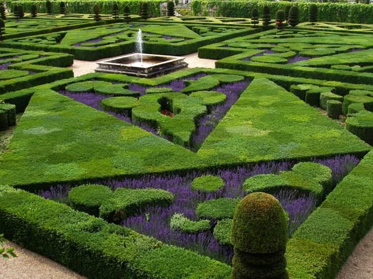 plano jardin clasico lavanda plantas ideas