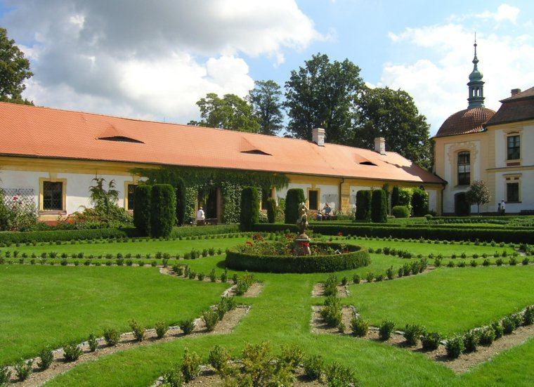 plano jardin clasico mansion cesped plantas ideas
