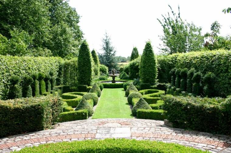 plano jardin clasico plantas naturalidad ideas