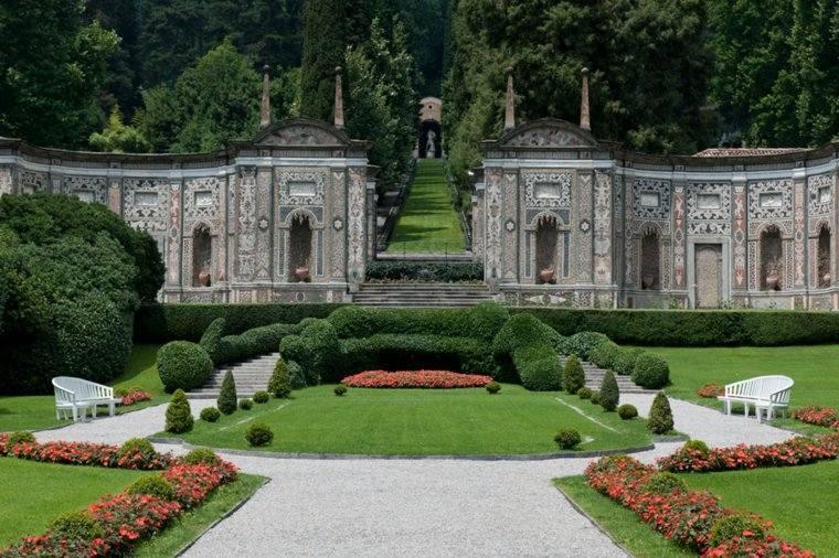 plano jardin clasico villa deste italia ideas