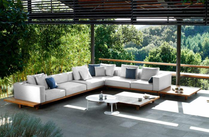 plantas exteriores muebles persianas mesas