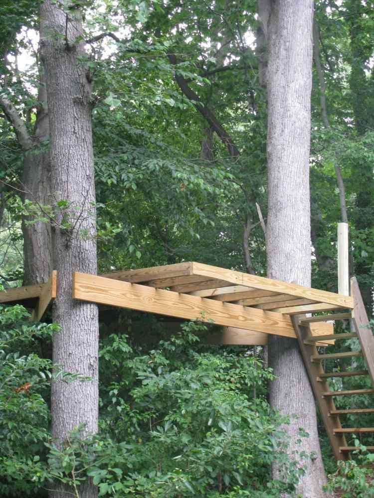 plataformas de madera decor arboles