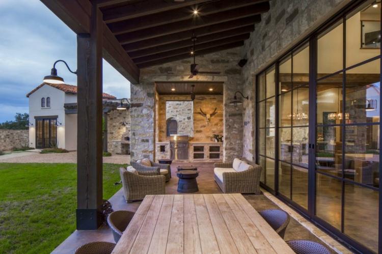 porche terraza estilo rústico